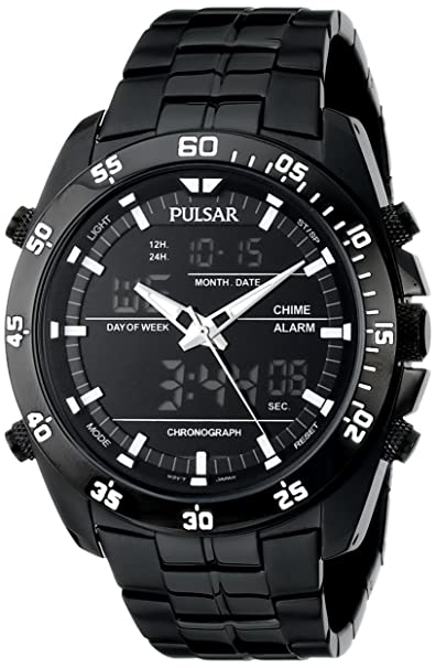 amazon com pulsar men s pw6011 stainless steel watch watches rh amazon com Pulsar PQ2011 Pulsar Digital Watch