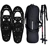 FLASHTEK 21/25/30 Inches Light Weight Snowshoes for Women Men Youth Kids, Aluminum Terrain Snow Shoes with Trekking Poles and