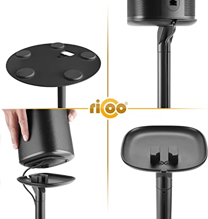 Ricoo Speaker Floor Stand For Sonos One And Sonos Elektronik