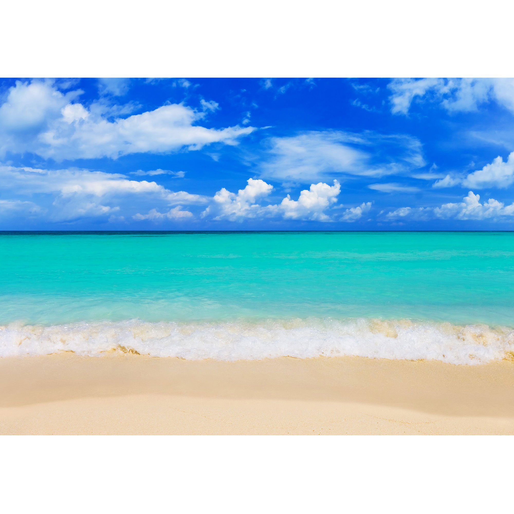 wall26 - Word Paradise on Beach - Concept Travel Background - Removable Wall Mural | Self-Adhesive Large Wallpaper - 100x144 inches by wall26 (Image #2)