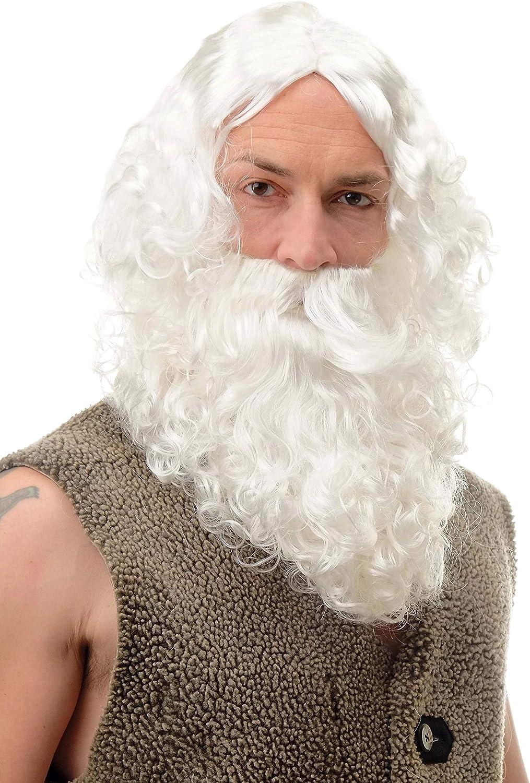 Carnaval Noël Père Noël Perruque /& Barbe Père Noël 6095a+b