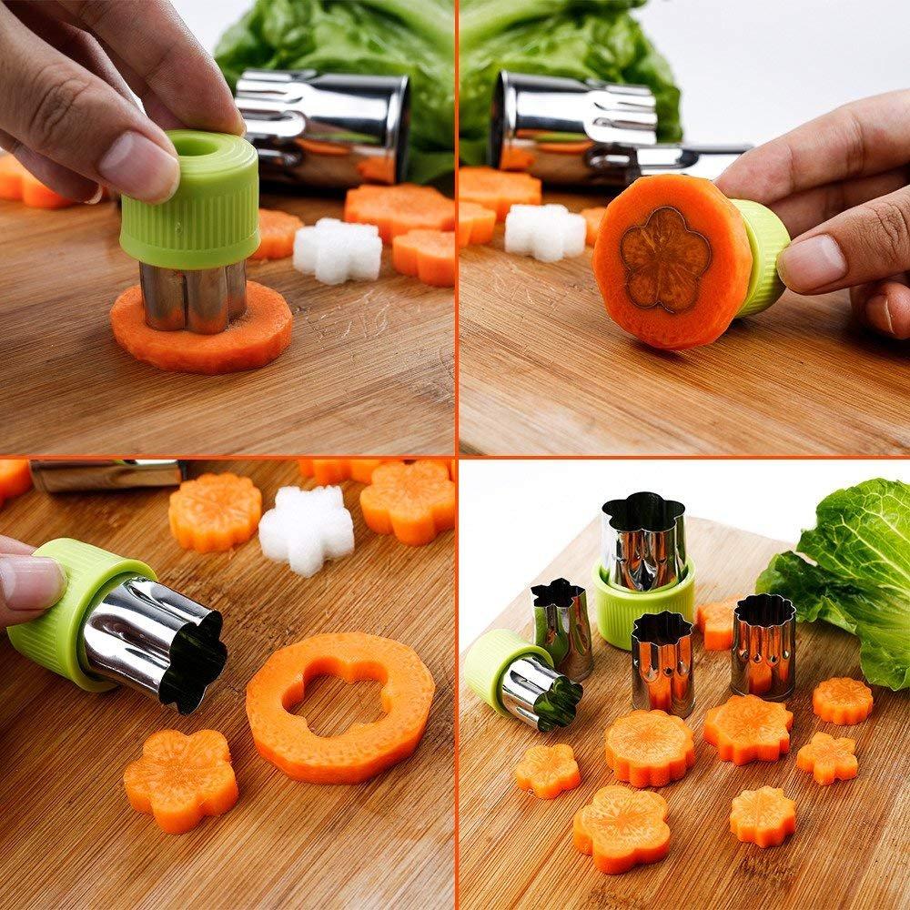Juego De Moldes Para Cortadores De Verduras 9 Piezas De Acero - Manualidades-con-frutas-para-nios