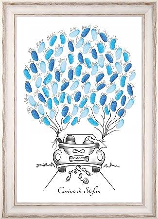 Personalisierter Wedding Tree Auto Fingerabdruck Baum Hochzeit