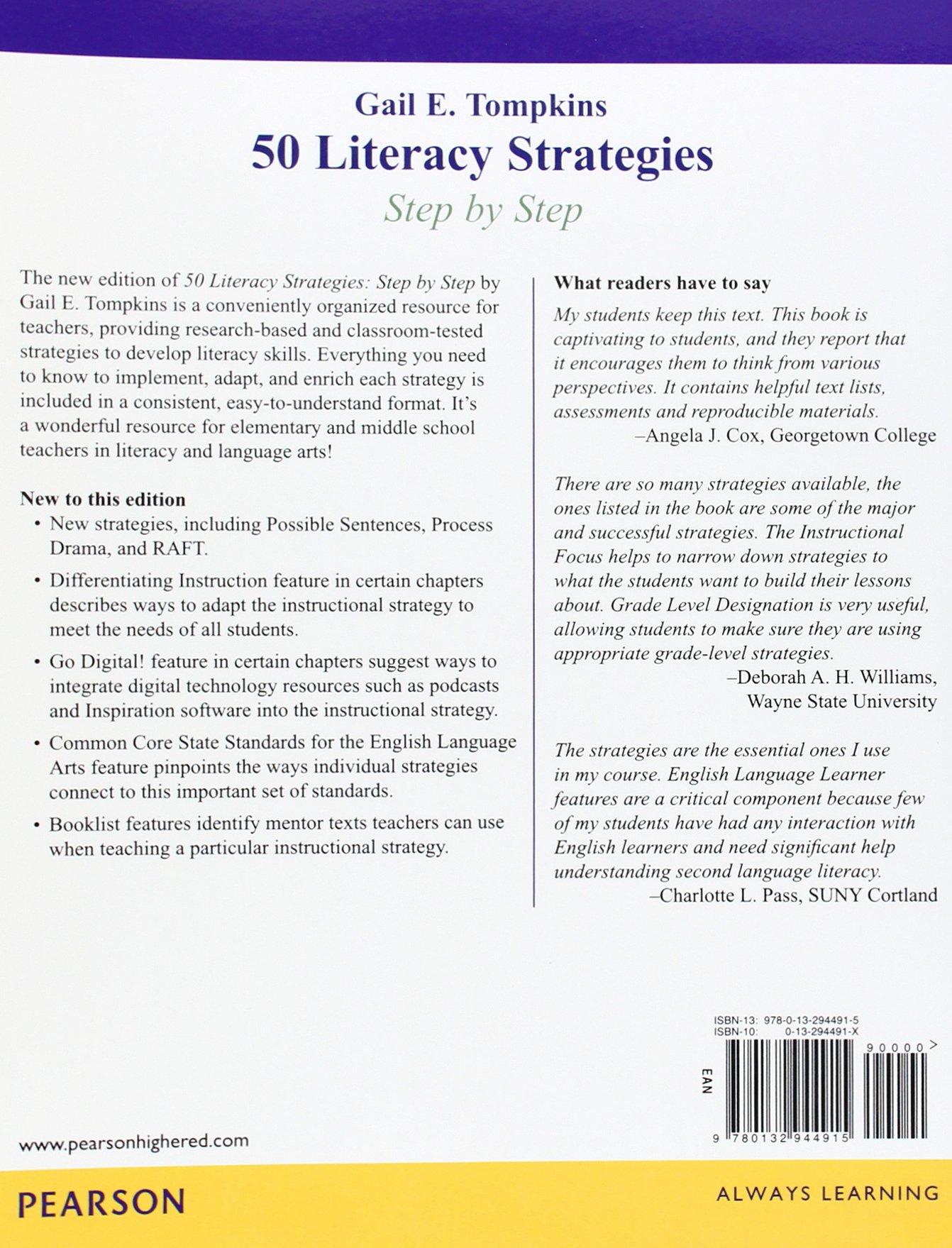 50 Literacy Strategies Step By Step Teaching Strategies Amazon