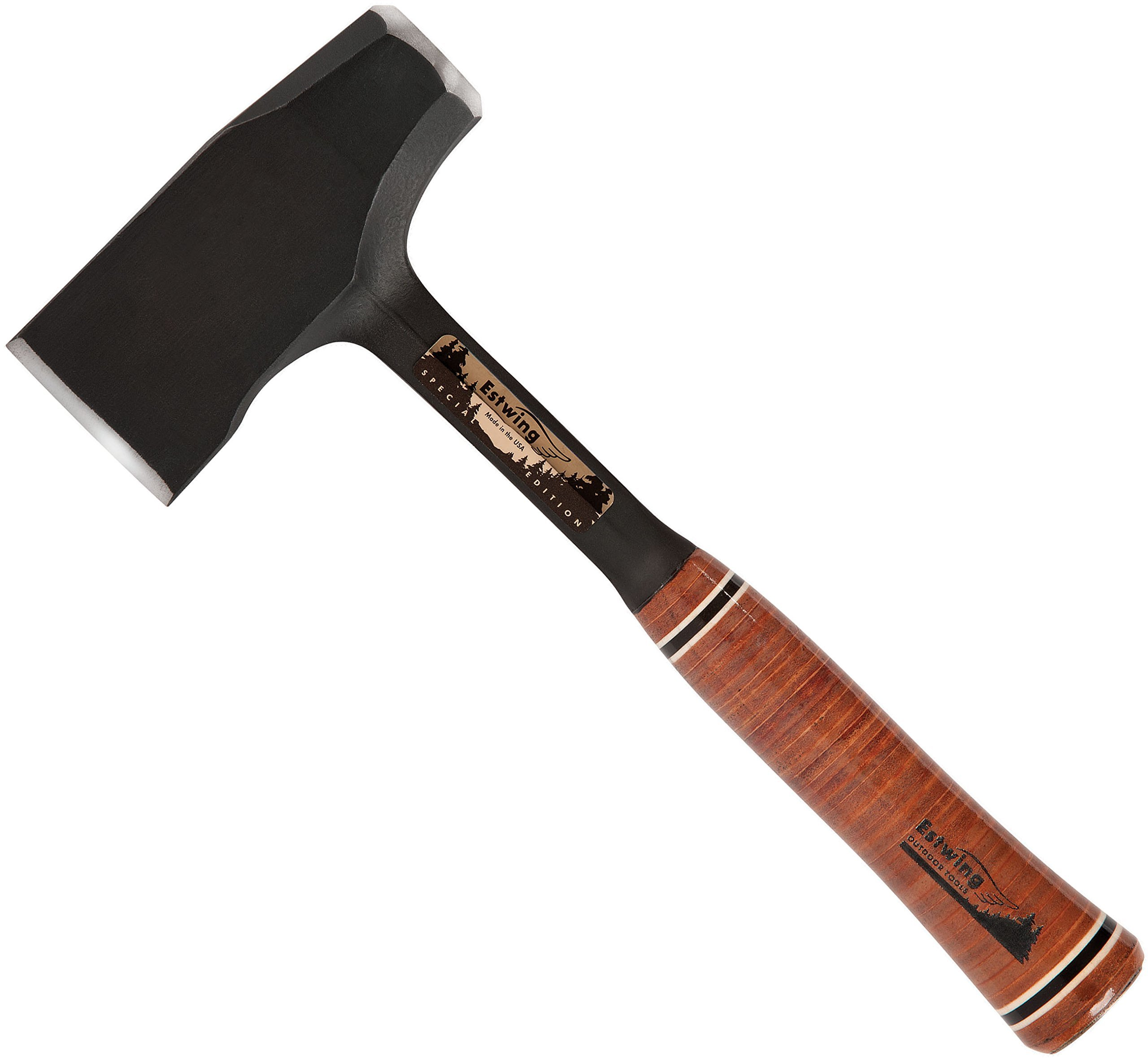 Estwing Special Edition Fireside Friend Axe - 14'' Wood Splitting Maul with Forged Steel Construction & Genuine Leather Grip - EFF4SE