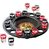 Shot Glass Roulette Drinking Game - Includes 16 Shot Glasses, Spinning Wheel and Roulette Balls
