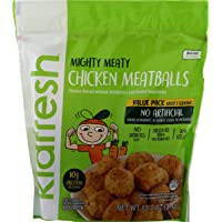 Kidfresh Chicken Meatballs, Made with Hidden Veggies and No Artificial Ingredients, Frozen Kid's Meal, VALUE-Size 13.2oz Bag, 6-Pack