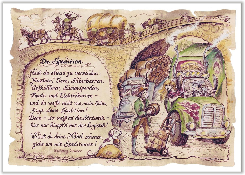 Spedition möbel versenden  Geschenk Spedition Transportunternehmen Fuhrunternehmen Zeichnung ...