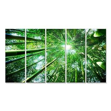Cuadro Cuadros Bosque de bambú - concepto Zen Impresión sobre lienzo - Formato Grande - Cuadros modernos DKC: Amazon.es: Hogar