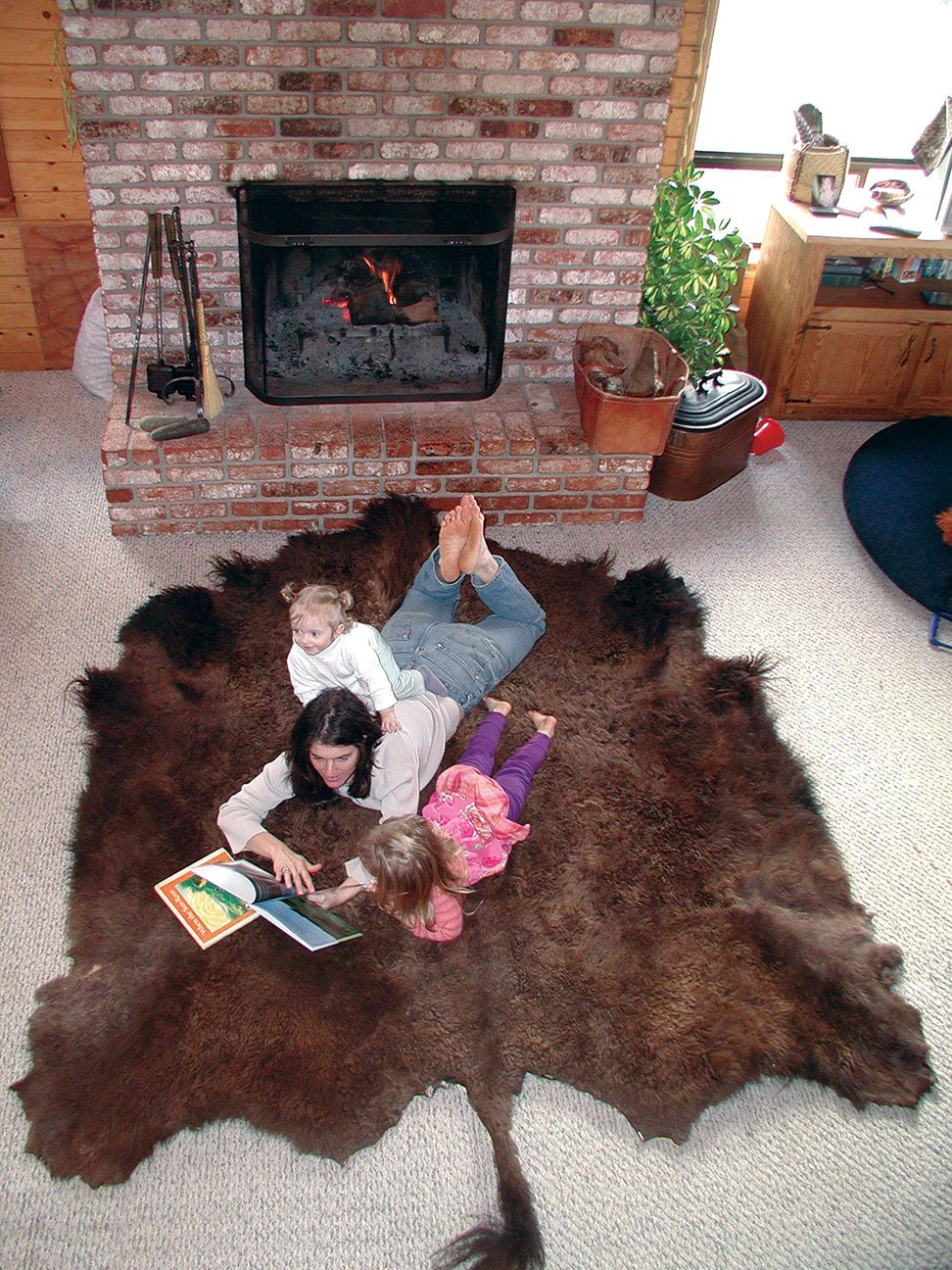 Buffalo Robes, Hides & Rugs: naturally tanned, highest quality. by Traditional Tanners
