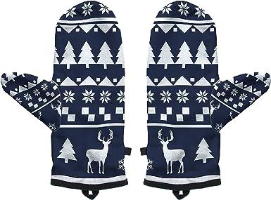 Fringoo Baby Boys Winter Mitten Warm Gloves Cosy Windproof Christmas Pug Cat Small//Medium Winter Navy