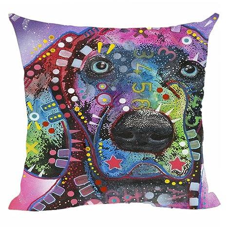 Amazon.com: CafeTime Home - Funda de almohada decorativa con ...