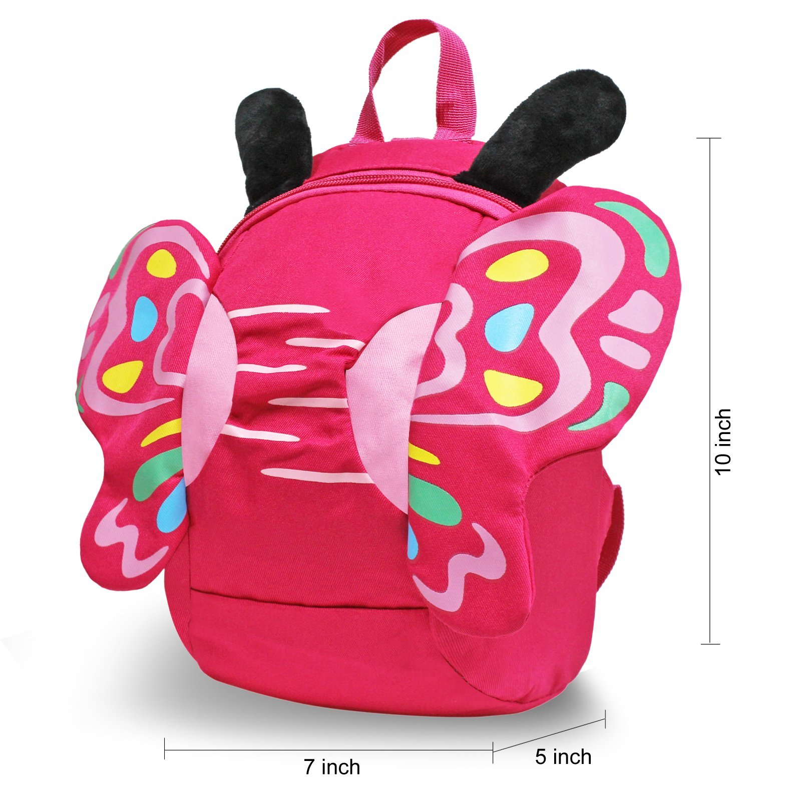 GinTai Canvas Butterfly Kid's Backpack Rose Red by GinTai (Image #2)