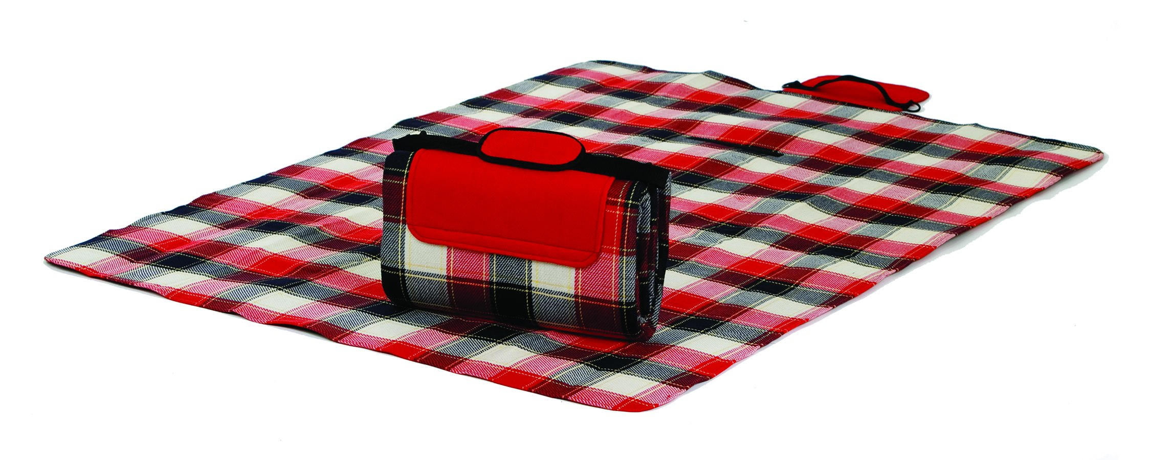 Mega Mat 100% Waterproof Backing All Season Picnic Blanket, Beach Mat And More Opens To 68''X 82'', Seats 4-6 Persons Plus Gear (Highland Plaid)