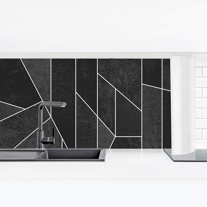 Bilderwelten Cr/édence Cuisine adh/ésive Black /& White Geometric Watercolor Premium 40 x 140 cm