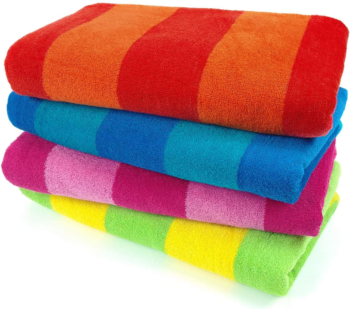 Kaufman – 100% Cotton Velour Striped Beach & Pool Towel