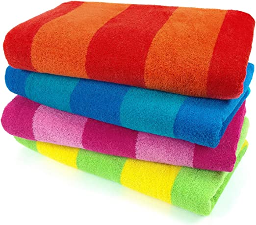 Navy//Red,Mint//Coral,Grey//Celedon Kaufman Reversible Terry Towels 35 x 70