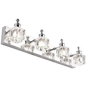 PRESDE Bathroom Light Fixtures Over Mirror LED Vanity Light 4 Lights Strip Wall Lighting Decor