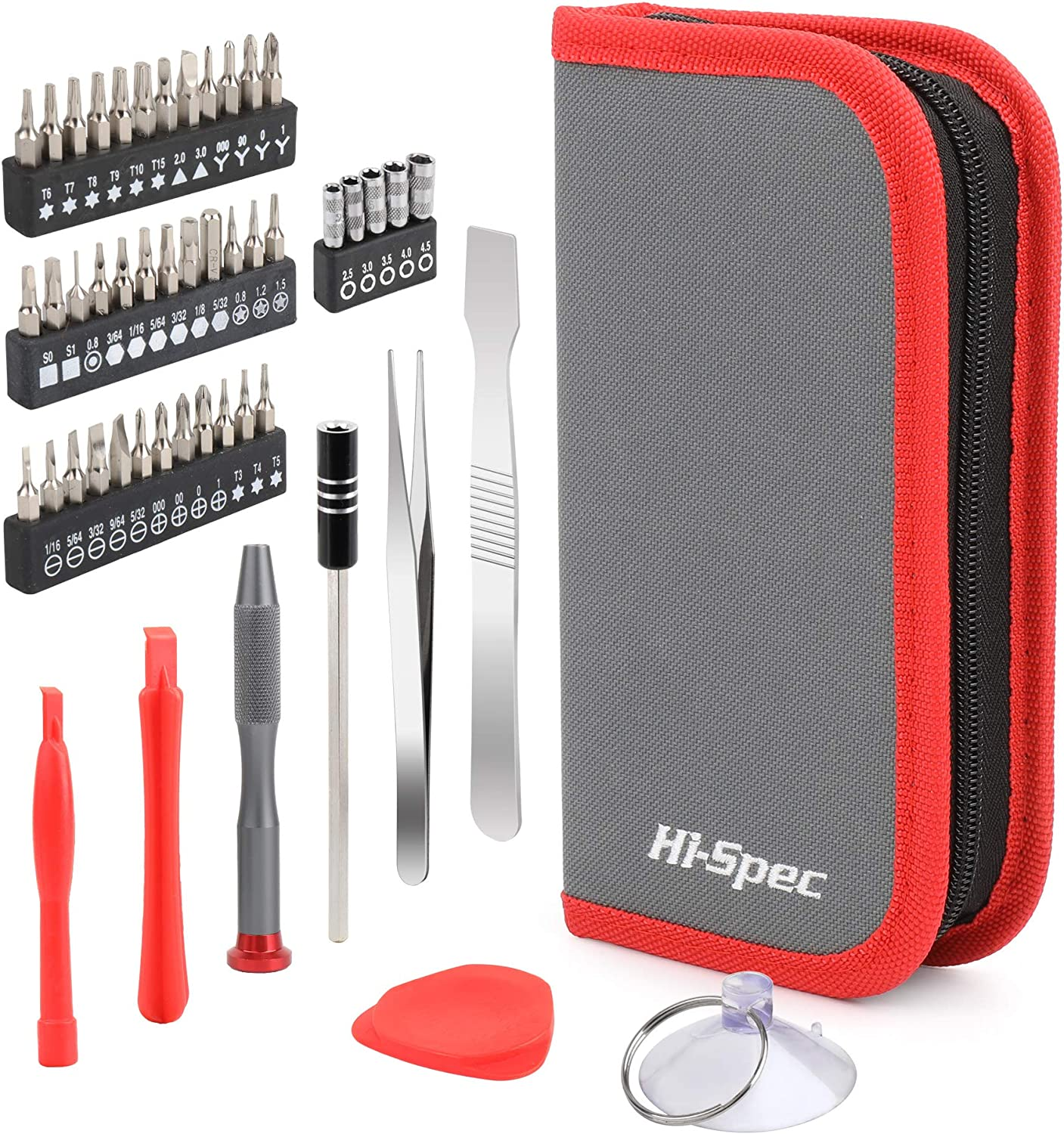 Hi-Spec 49 Piece Repair & Opening Tool Kit Set With Precision Screw Driver Bits For Android Mobile Cell Phones, iPhones, Macbooks, Laptops, Notebooks, Video Game Consoles & Electronic Gadgets: Home Improvement