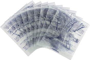 10er Pack (10 Stück) Flugzeugbeutel Für Die Sicherheitskontrolle Am Flughafen / Kosmetikbeutel Milchig Und Diskret Flight Bag Von Amathings Hersteller: amathings