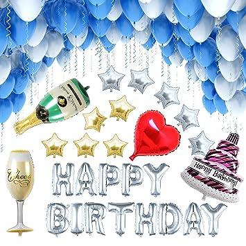 [127 Piezas] Globos Cumpleaños / Happy Birthday / Suministros y Decoración para Fiesta / Felicidades Cumpleaños / Decoración de la Festivas Lujo / ...
