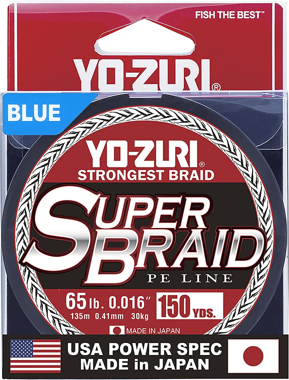 65 lb Blue Yo-Zuri Superbraid 150 yd Floating Braid