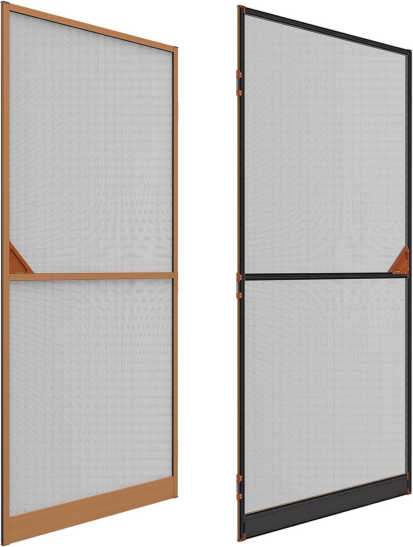 Mosquitera Rejilla Aluminio Puerta con chapa de madera 100 x 215 cm kürzbar: Amazon.es: Bricolaje y herramientas
