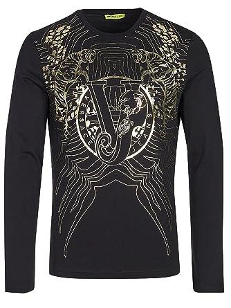 Versace Jeans Couture - T-Shirt - Coque - Homme - Noir - XXL  Amazon ... 992bf44b698