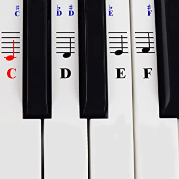 a38c37584eb Piano and Keyboard Music Note Stickers with Piano Songs eBook   User  Guide©  Learning