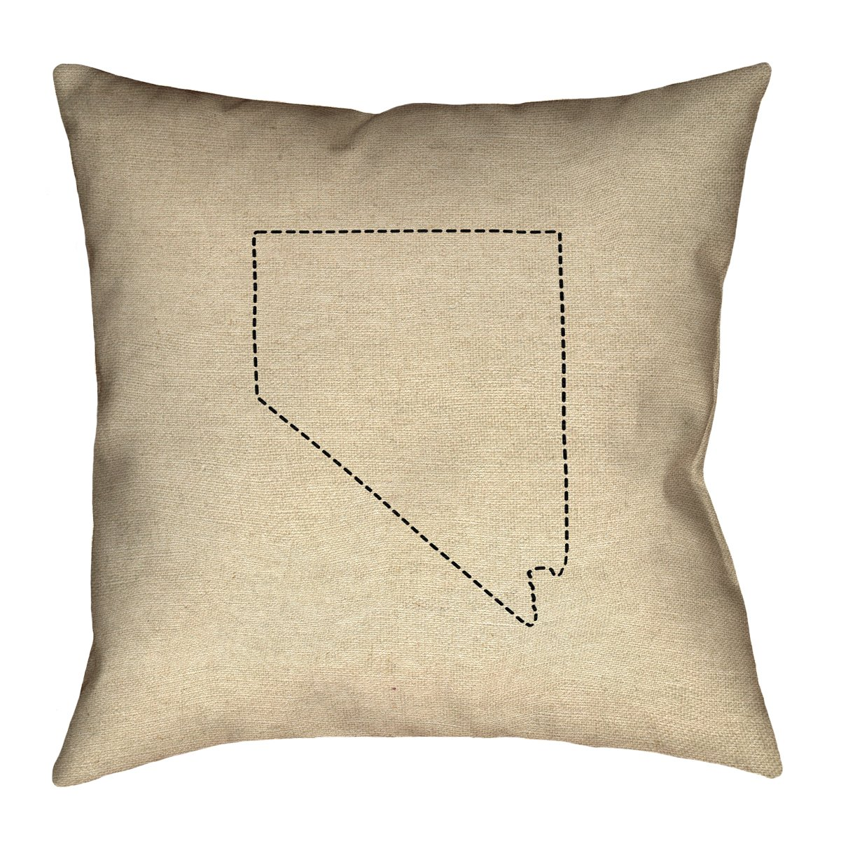 Double Sided Print with Concealed Zipper /& Insert ArtVerse Katelyn Smith Nevada Outline 14 x 14 Pillow-Faux Linen Updated Fabric