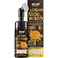 WOW Skin Science Ubtan Foaming Face Wash with Built-In Face Brush for deep cleansing - No Parabens, Sulphate, Silicones…