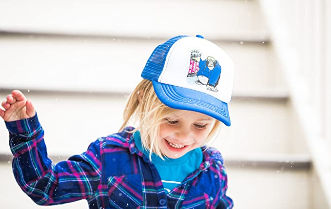 5569a4825a9 Amazon.com  Snowboarding Gorilla on Kids Winter Trucker Hat. The Kids  Baseball Cap is Available in Baby