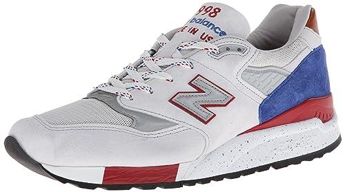 low priced b2da7 07088 New Balance Mens National Parks 998 Grey/Blue/Red M998BT 8 ...