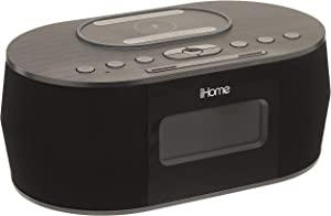 iHOME iBTW38 Wireless Charging Bluetooth Alarm Clock,Black