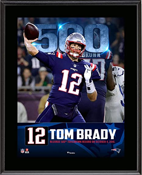 "345ac5a3beb Tom Brady New England Patriots 10.5"" x 13"" 500th Touchdown  Milestone Sublimated Plaque -"
