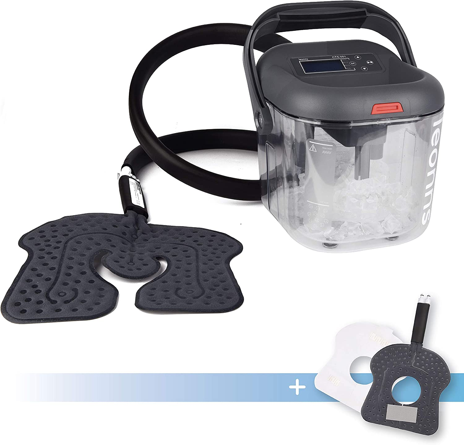 Cold Therapy Machine w/Universal Flexible Pad | Ice Cyrotherapy System for Knee, Shoulder, Back, Hip and More (Universal + Knee Pad)