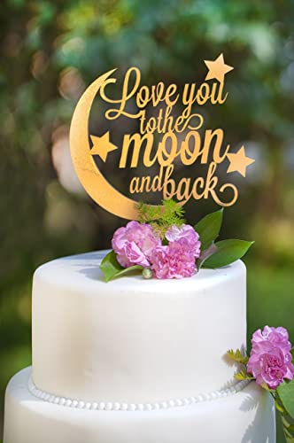 Amazon love you to the moon and back wedding cake topper handmade love you to the moon and back wedding cake topper junglespirit Image collections