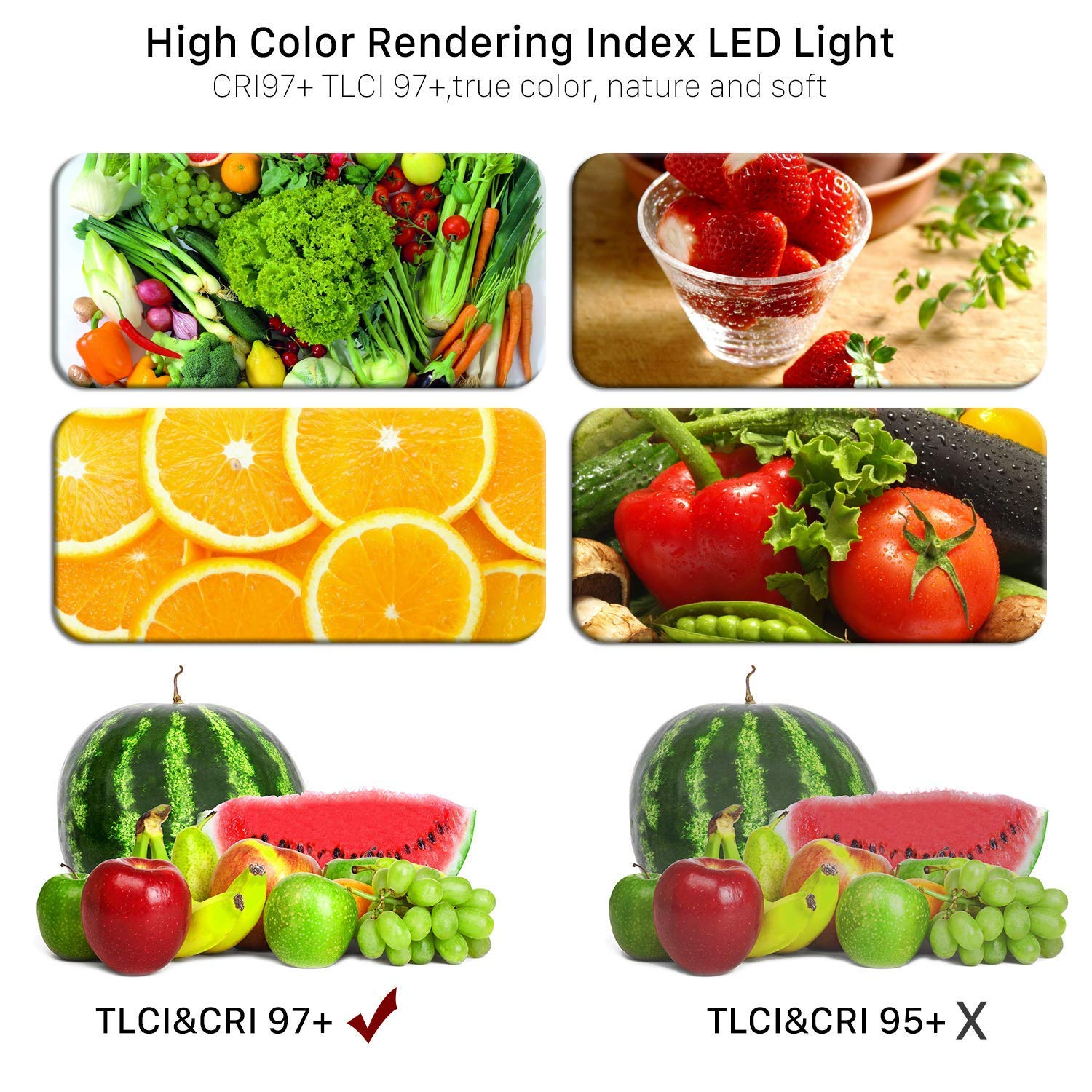 GVM 3 Pack LED Video Lighting Kits with APP Control TLCI97 Led Video Light Panel CRI97 Barndoor Bi-Color Variable 2300K~6800K with Digital Display Brightness of 10~100/% for Video Photography