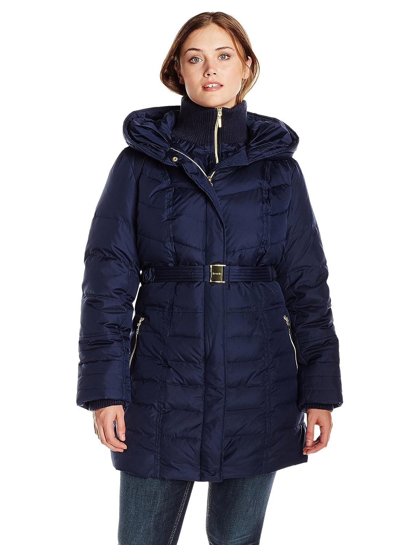 Amazon.com: Kensie Women's Long Maxi Down Coat with Fur Trim Hood