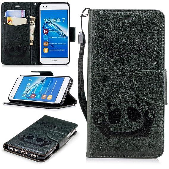 cheaper 28f19 34841 Amazon.com: XYX Wallet Phone Case for P9 Lite Mini,[Wrist Strap ...