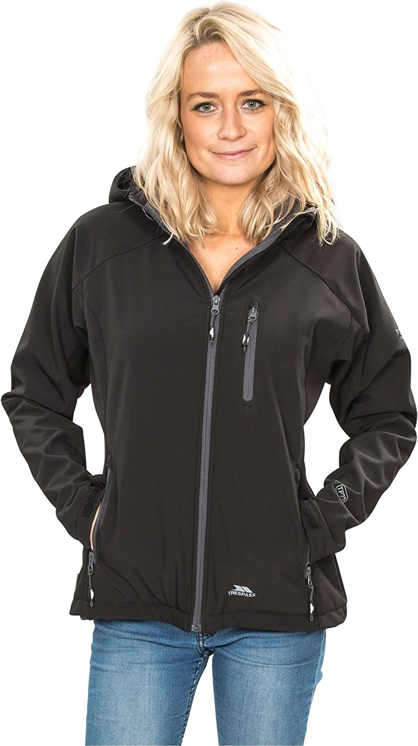 Mujer Trespass Tp75 Bela II Chaqueta Impermeable con Capucha Desmontable