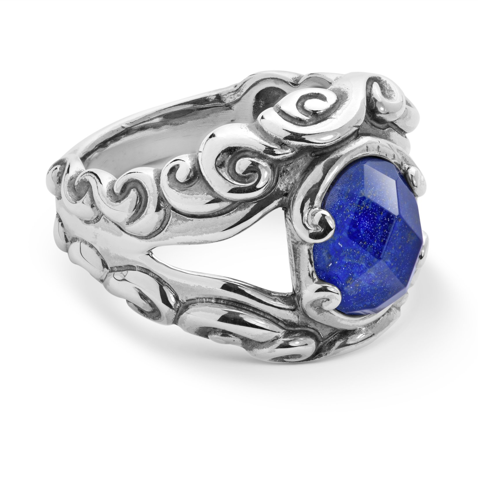 Carolyn Pollack - Sterling Silver Lapis Doublet Split Band Ring - 7 - Lasting Connections Collection