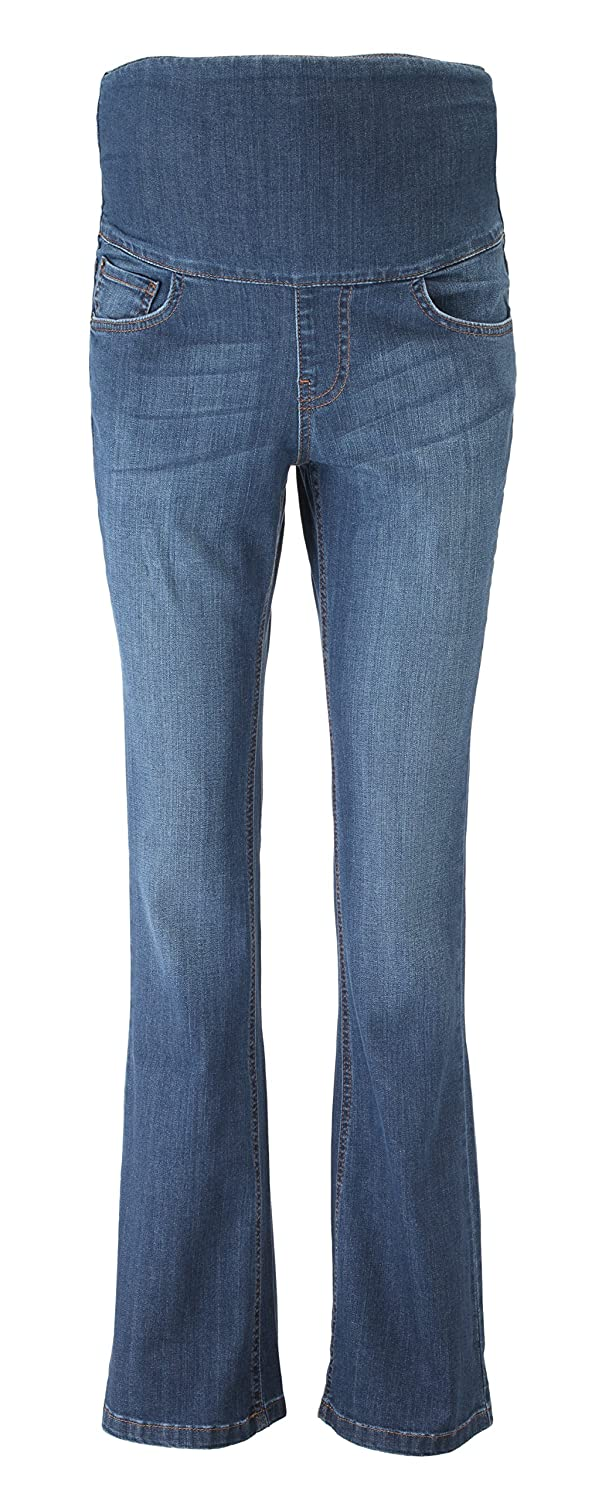 Mama Jeanius maternity jeans: Denim band, Mid denim, boot leg, UK sizes 8-16, petite/regular/ long leg