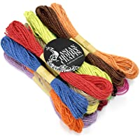 Asian Hobby Crafts Jute Thread Twine Cord,: Natural: (Thick: 2mm, Length: 120m)