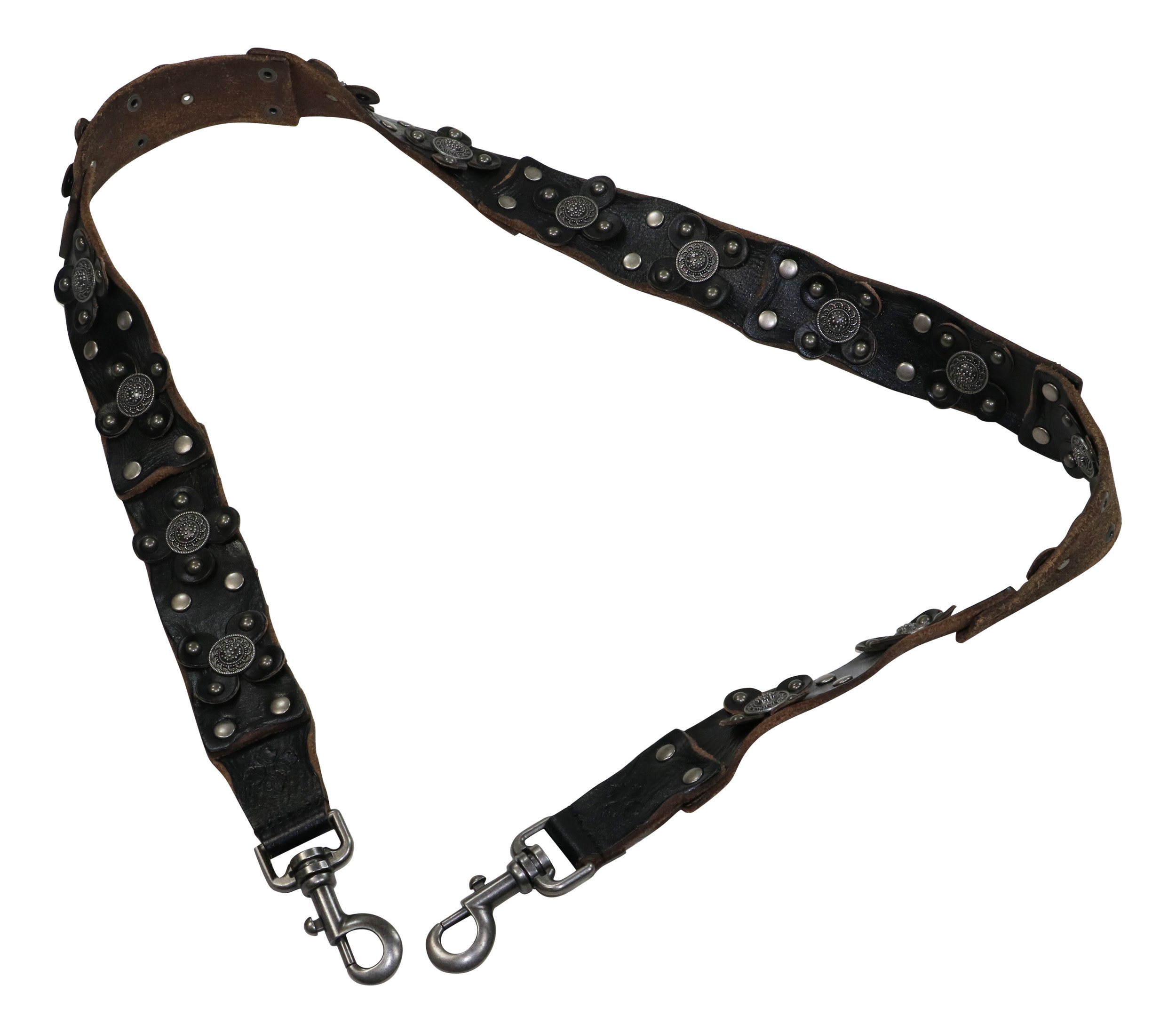 Patricia Nash Womens Bella Vista Leather Studded Shoulder Strap Black O/S by Patricia Nash