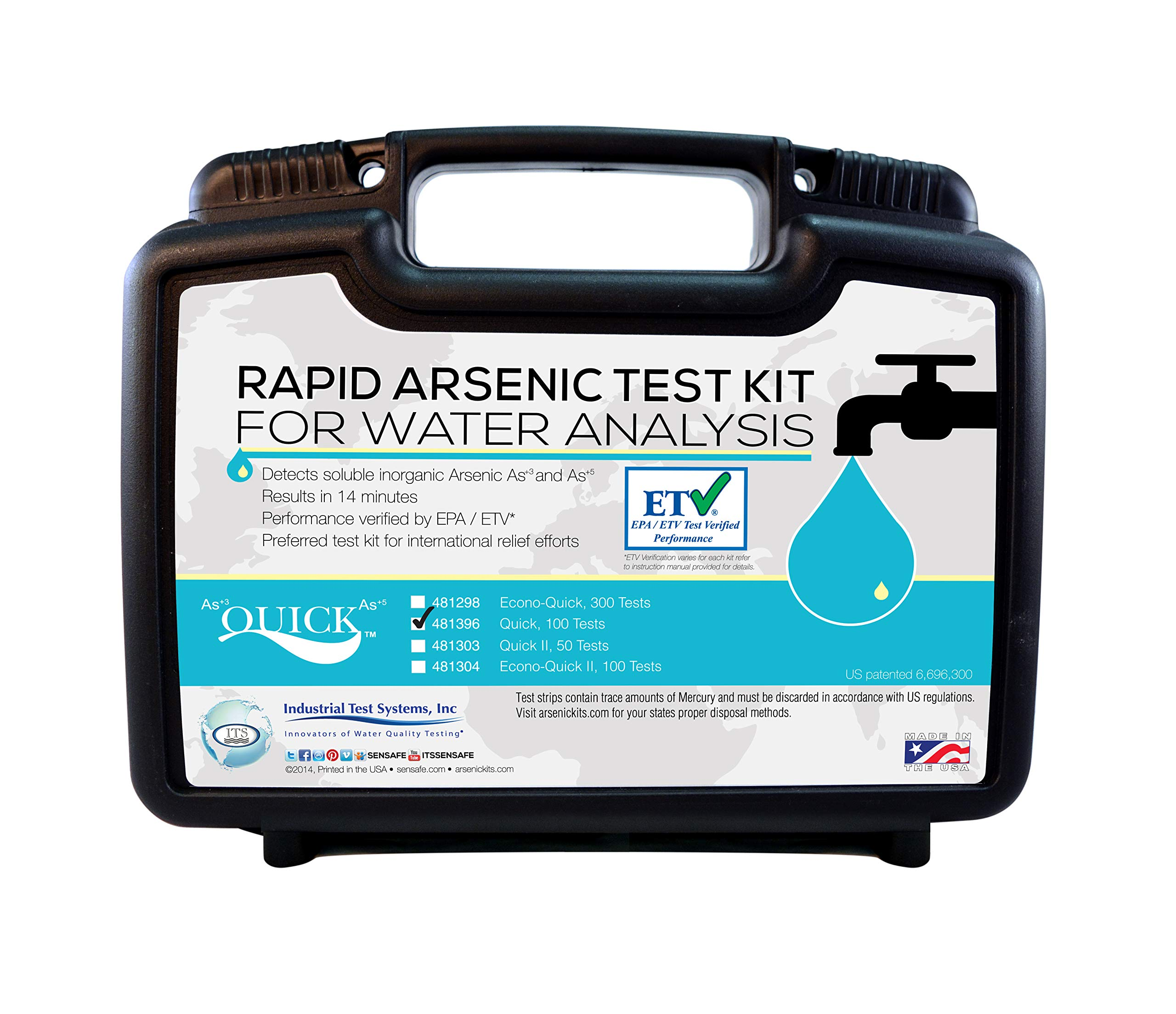 Industrial Test Systems Quick 481396 Arsenic for Water Quality Testing, 100 Tests, 12 Minutes Test Time by Industrial Test Systems