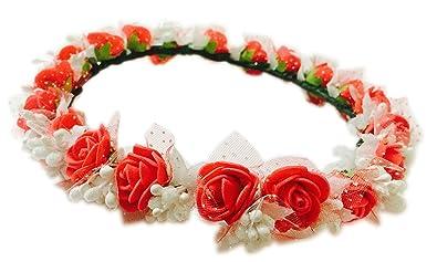 Buy loops n knots red white floral tiara crownheadband for loops n knots red white floral tiara crownheadband for girls mightylinksfo