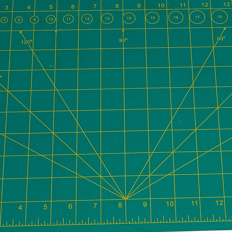 12 x 18 Long Lasting 5 layers Crafty Non-Slip Mat Mind Reader Self Healing Cutting Mat Green