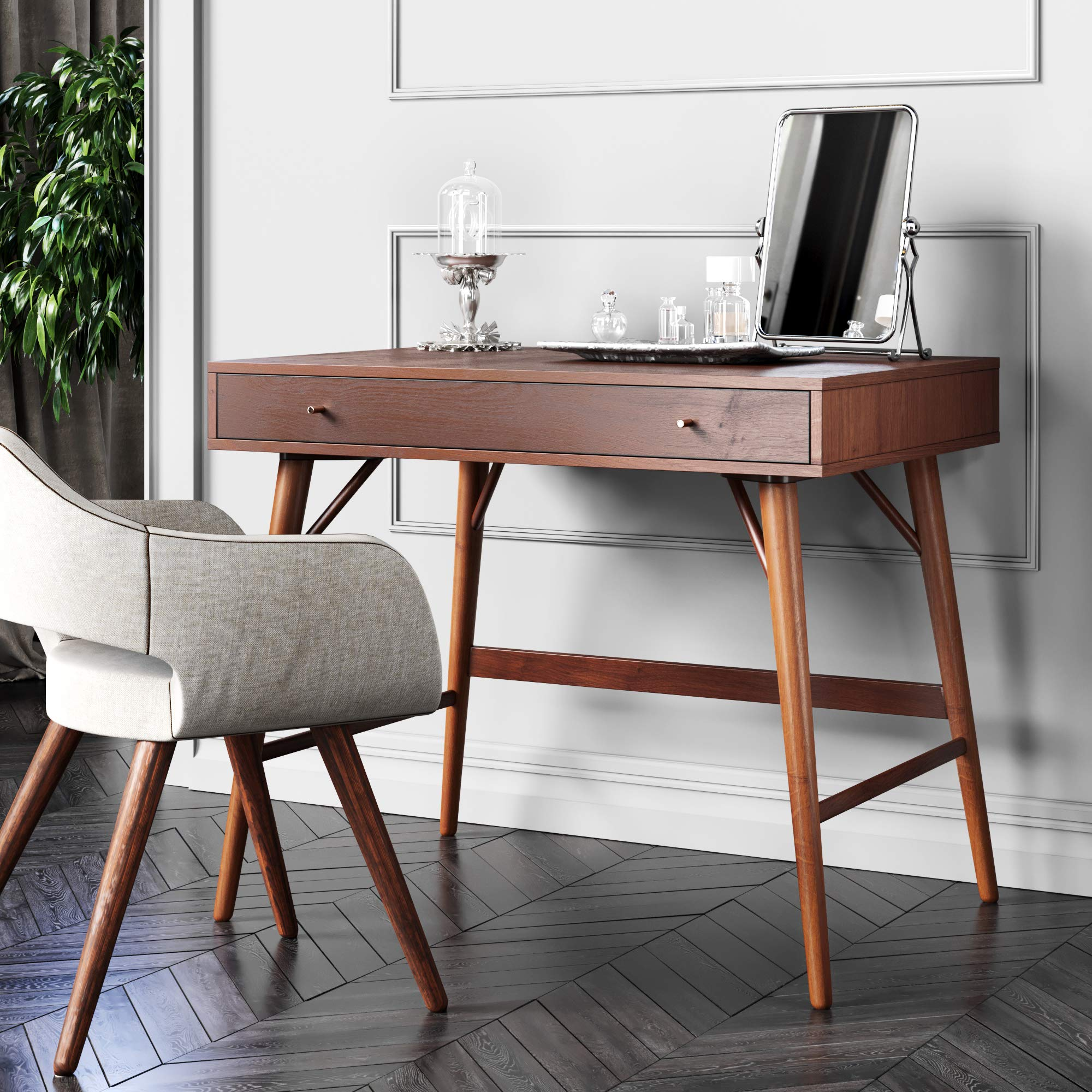 Bonny Wood Desk | Mid-Century, Modern for Home Office, Small Writing Station by The Vine Square