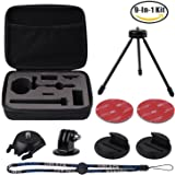 For Rylo 360 Video Rylo A0101 360 Video Camera Carrying Case Set by HOLACA including Tripod Curved Flat Mount Wrist Strap Tripod Adapter Stroage EVA Bag